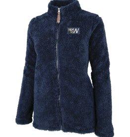 Charles River Navy Ladies Newport Fleece Full Zip