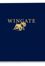 Navy Wingate Bulldog Folder
