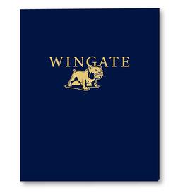 Navy Wingate Bulldog Folder