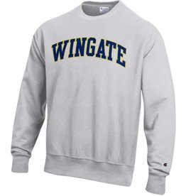 Champion Wingate Grey Embroidered Reverse Weave Crew