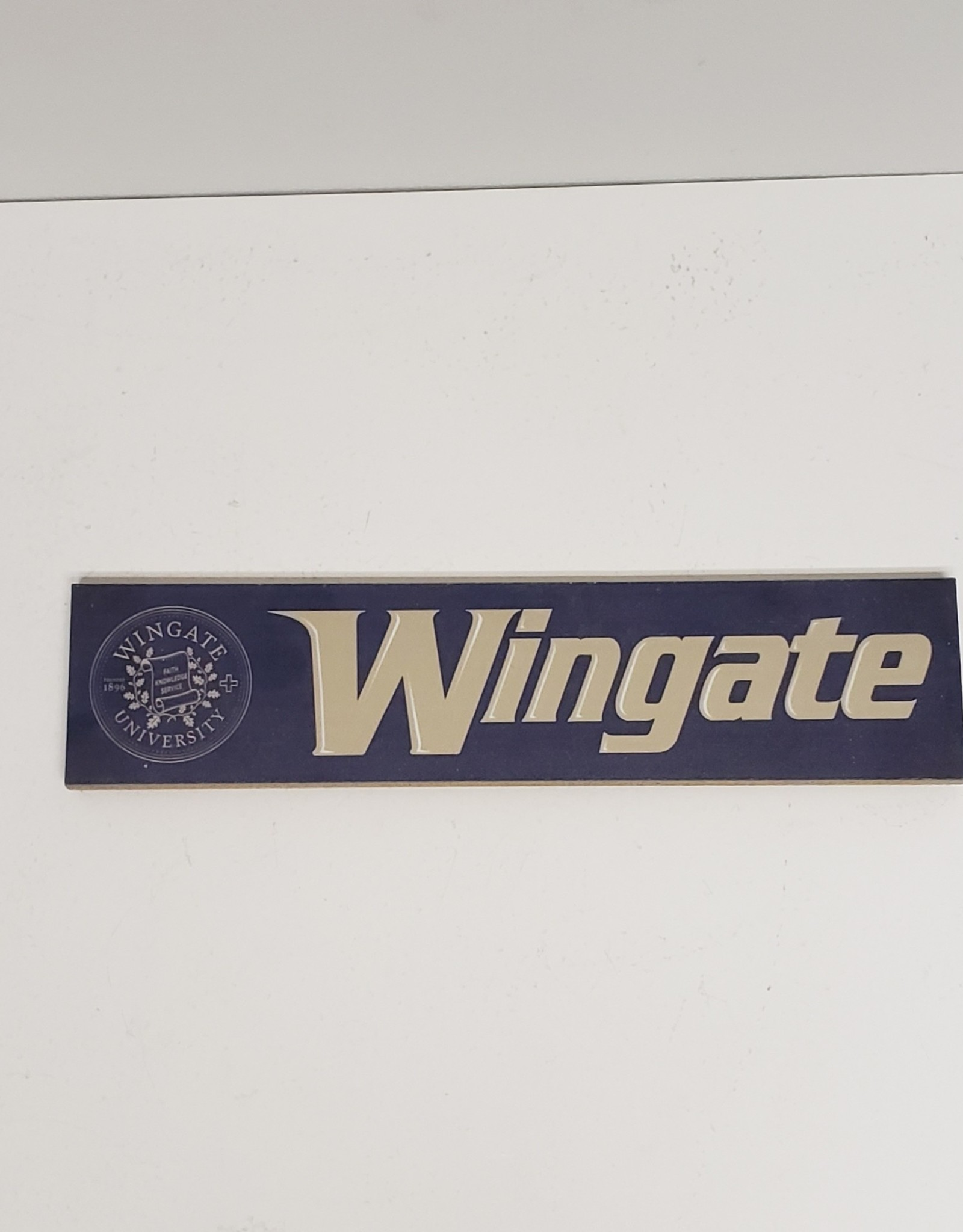 Legacy 3x13 Wooden Navy Vegas Seal Wingate Plaque