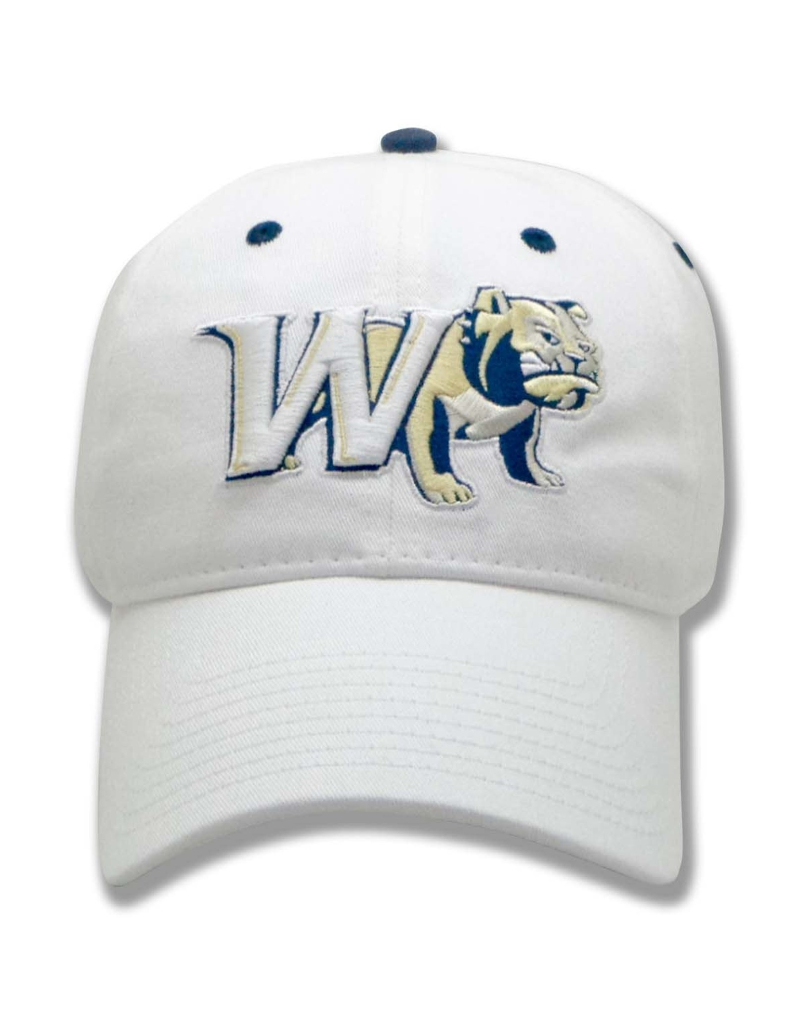 The Game White Adjustable W Half Dog Unstructured Hat