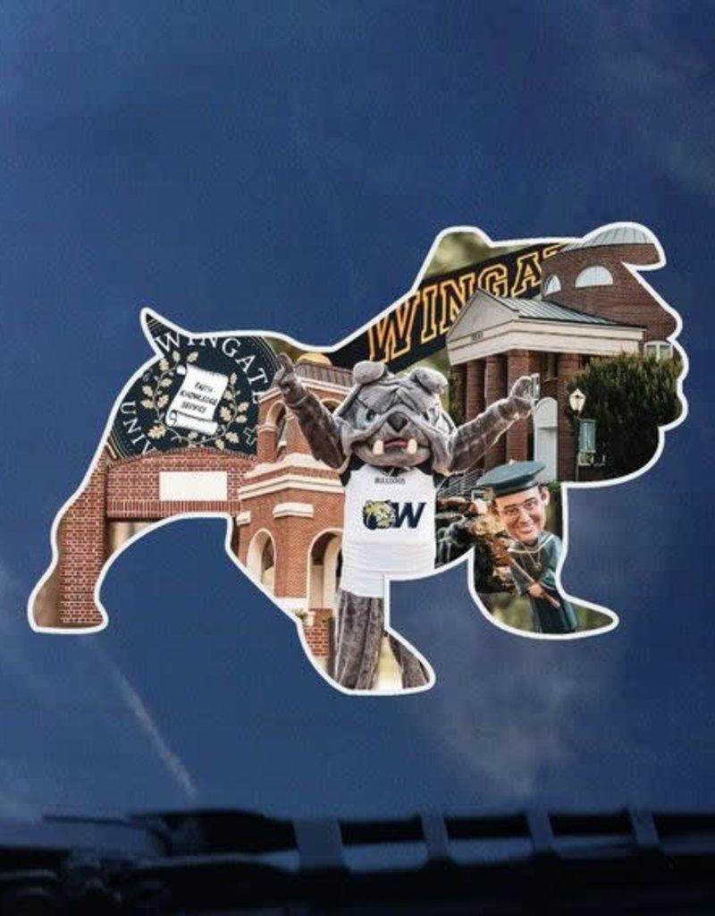 Full Bulldog Collage Decal
