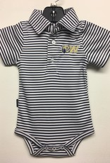 Navy Stripe Polo Onesie