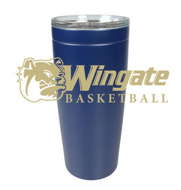 20oz Navy Basketball Stainless Tumbler