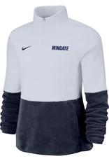 Nike Ladies Micro Fleece 1/2 Zip Navy and White