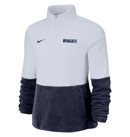 Nike Ladies Micro Fleece 1/2 Zip Navy and White