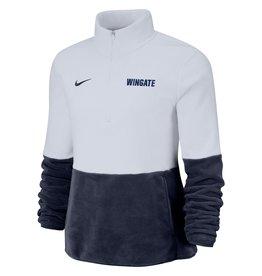 Nike Nike Ladies Micro Fleece 1/2 Zip Navy and White