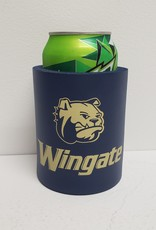 Koozie Navy Dog Head Wingate Gold Ink