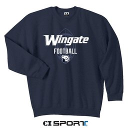 Gildan Navy Football Crewneck