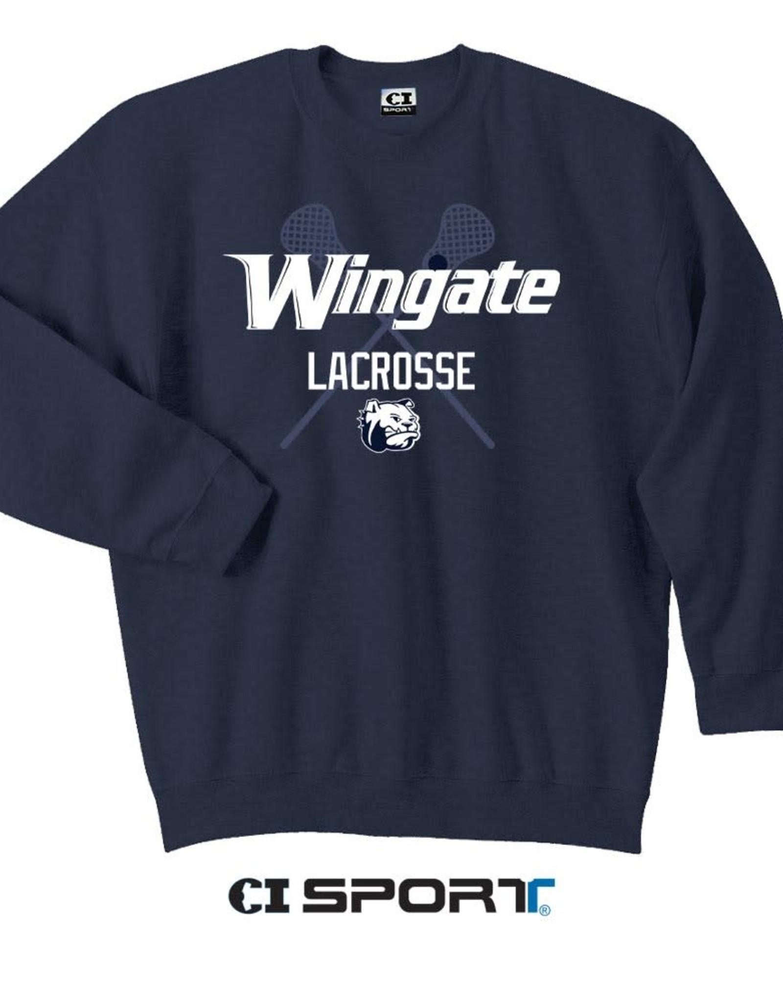 Gildan Navy Lacrosse Crewneck