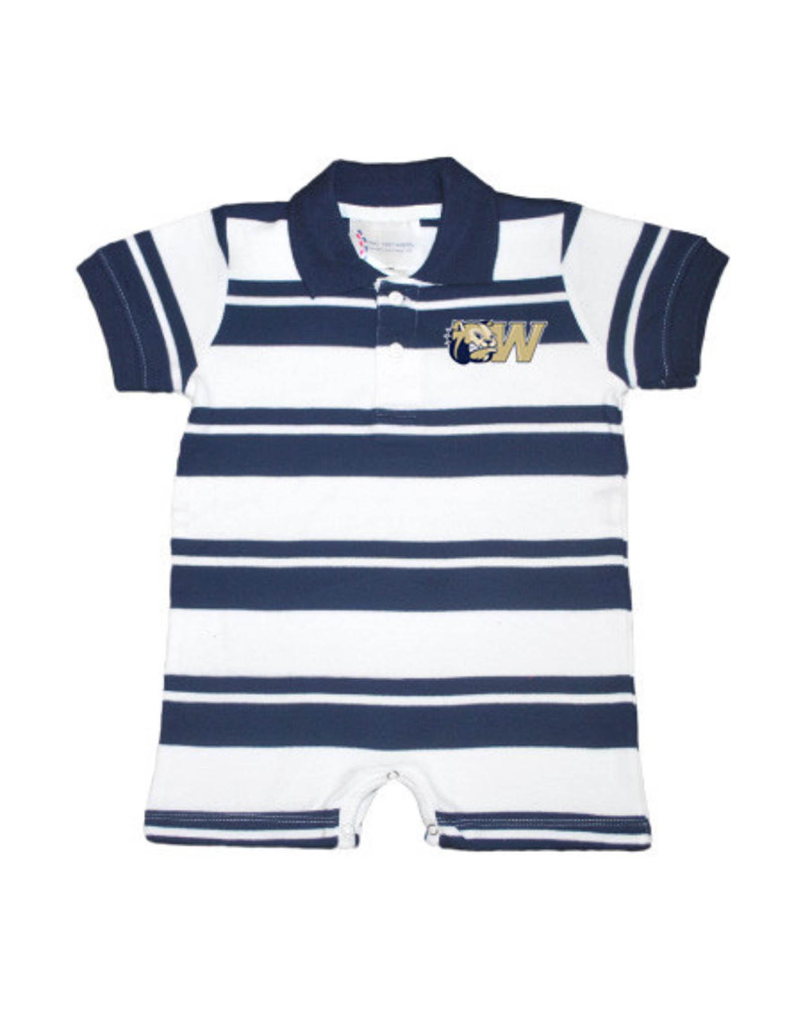 Navy Rugby Romper