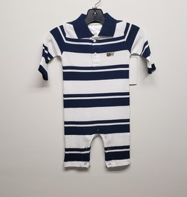 Navy Rugby Long Leg Romper