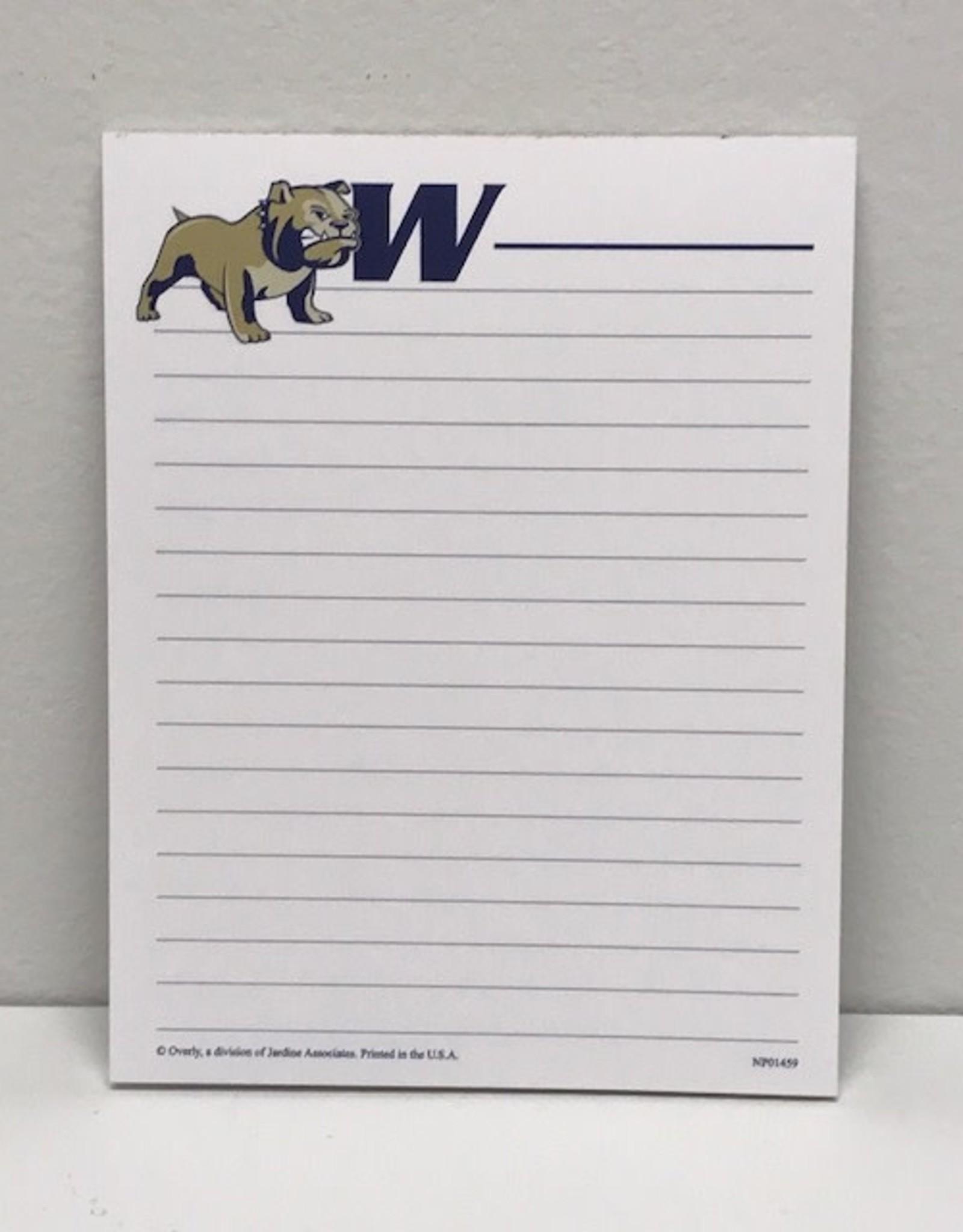 Small WU Notepad