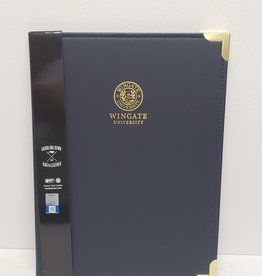Carolina Sewn Navy Gold Tips Padfolio