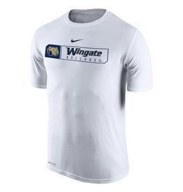 Nike White Wingate Bulldogs SS Drifit