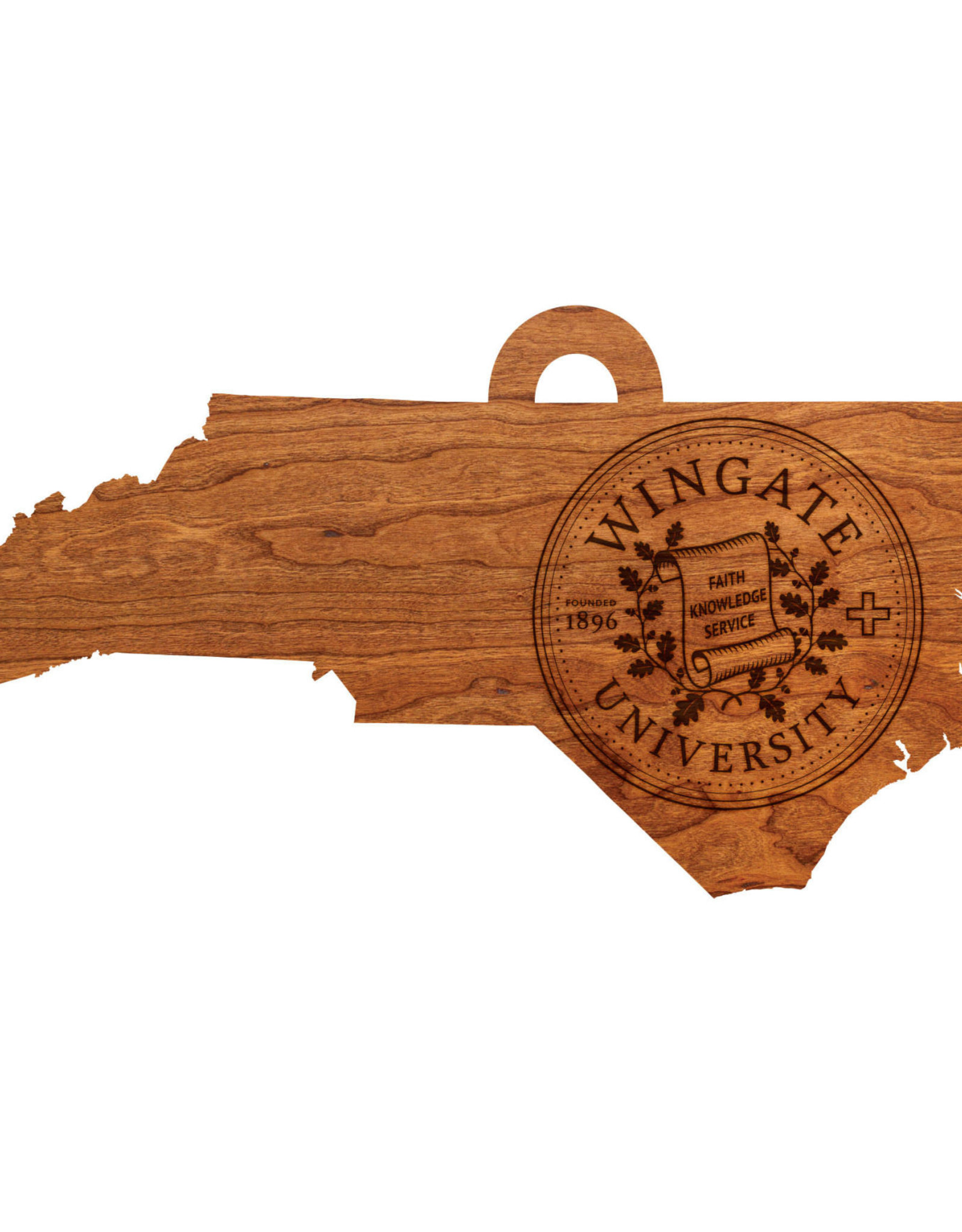 "LazerEdge 24"" x 8"" x .25"" Wood Wall Hanging State Map Seal"