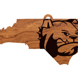 "LazerEdge 24"" x 8"" x .25"" Wood Wall Hanging State Map Dog Head"
