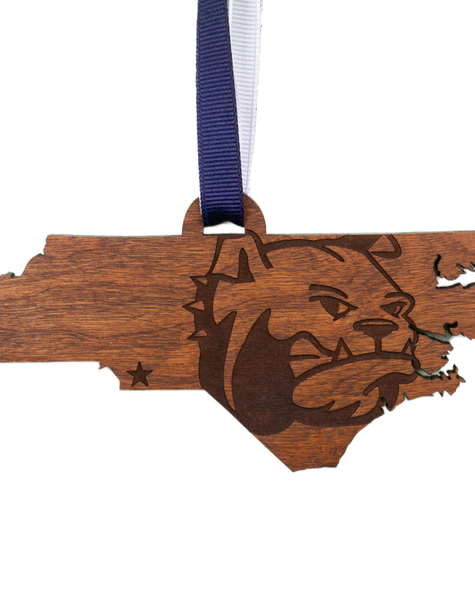 LazerEdge Wood Ornament State Dog Head