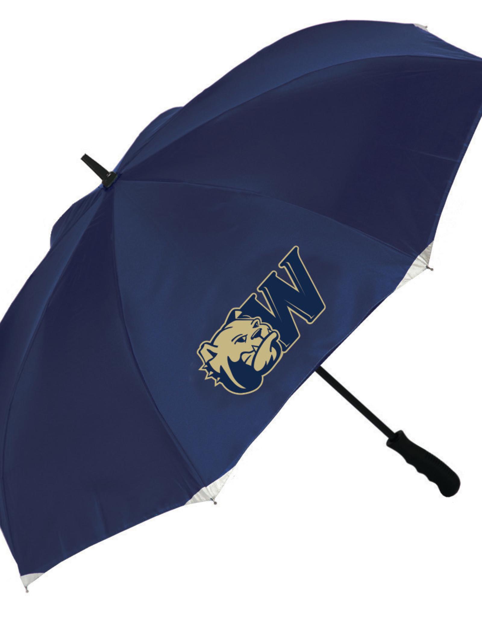 "48"" Oversized Navy Reflective Invertabrella Umbrella"