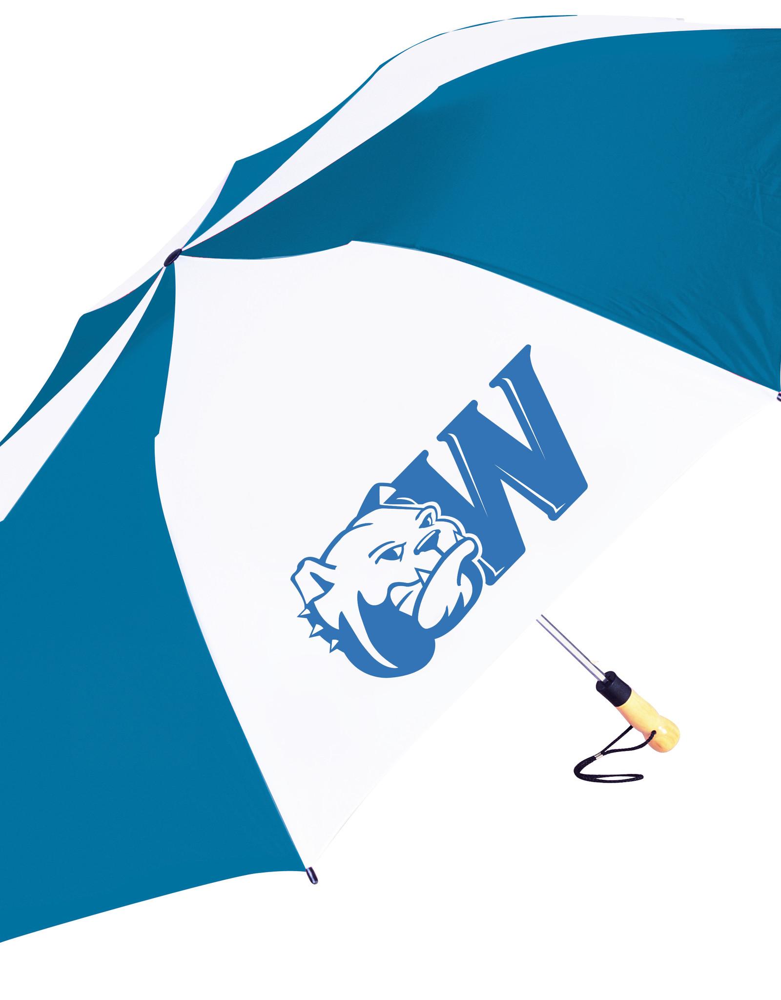 "PICK UP ONLY 58"" Oversized Navy White Dog Head W Umbrella"