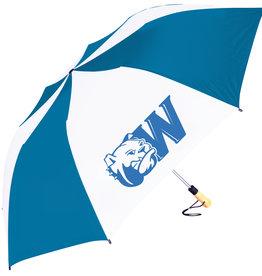 "58"" Oversized Navy White Dog Head W Umbrella"