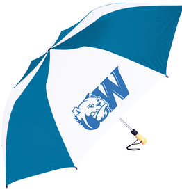 "PICK UP ONLY 58"" Oversized Navy White Dog Head W Umbrella"