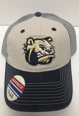 Navy Tan Snapback Dog Head Hat