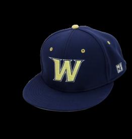 The Game Navy Flex Fit W Baseball Hat LG