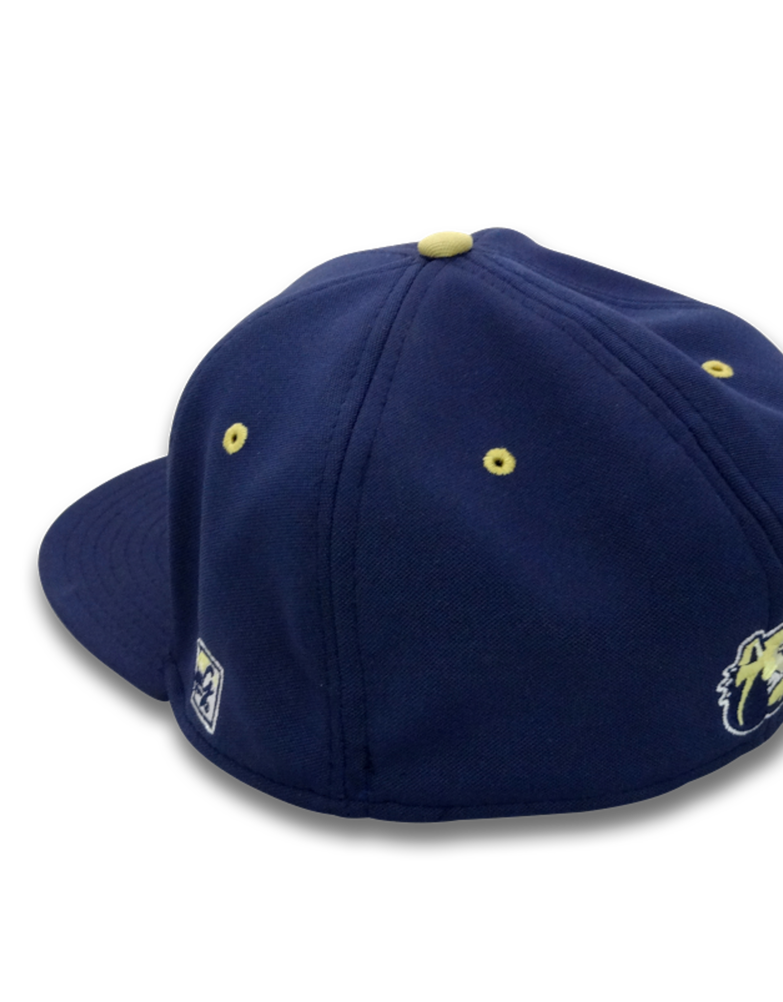 The Game Navy Flex Fit W Baseball Hat LG