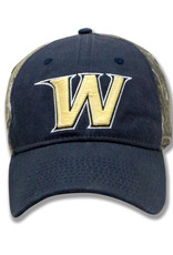 Camo and Navy Gold W Hat