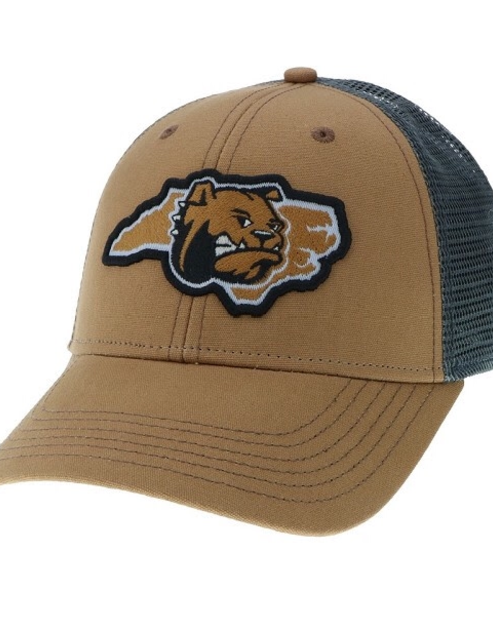 Caramel Grey Trucker Hat Bulldog State