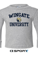 Youth Basic Grey Wingate Dog Head University LS Tee