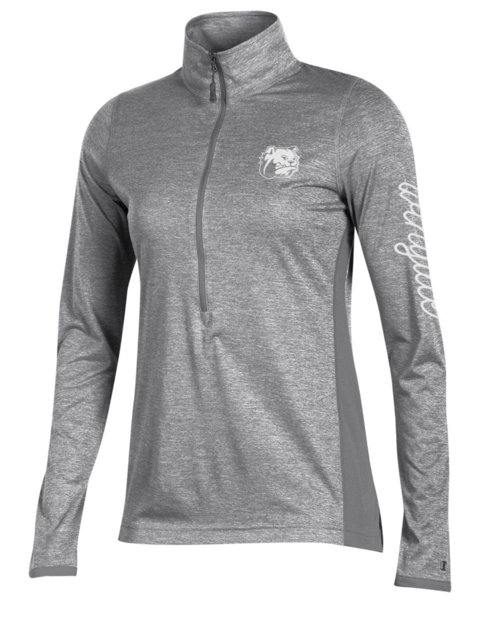 Ladies Marathon Grey 1/2 Zip