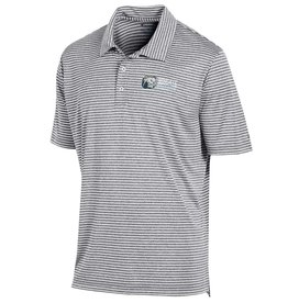 Grey White Stadium Striped Polo