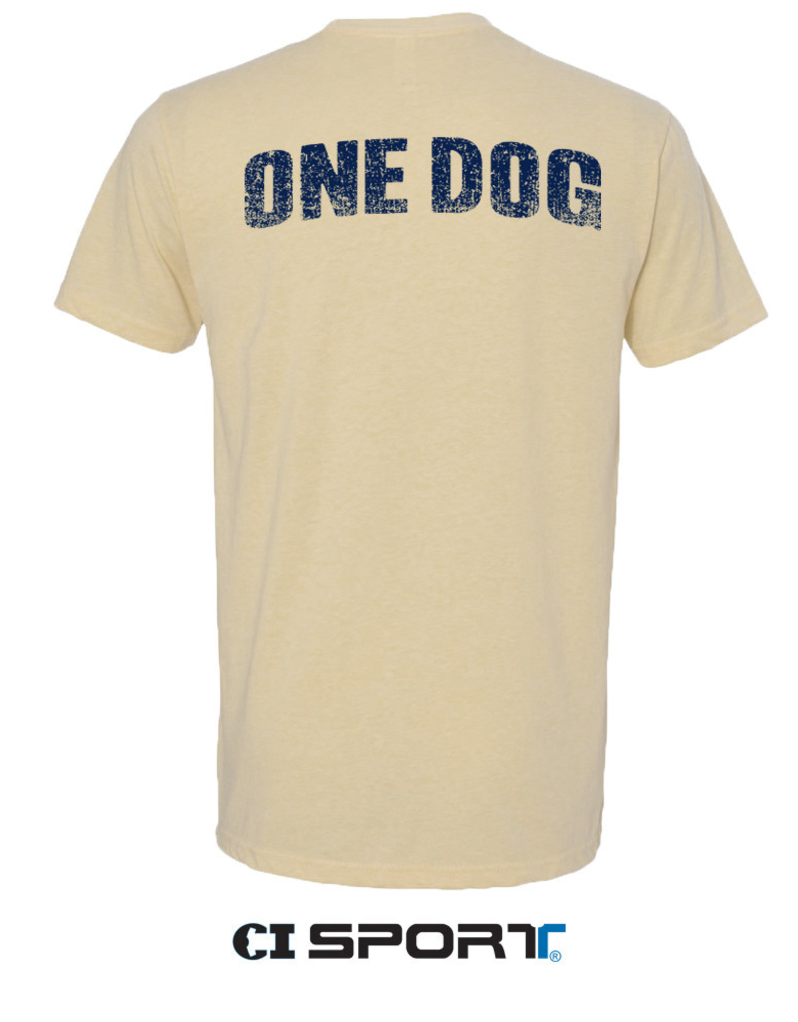 Gildan Vegas Gold Giant Dog Head One Dog SS Tee
