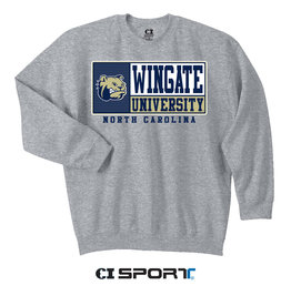 Grey Crewneck Wingate University NC