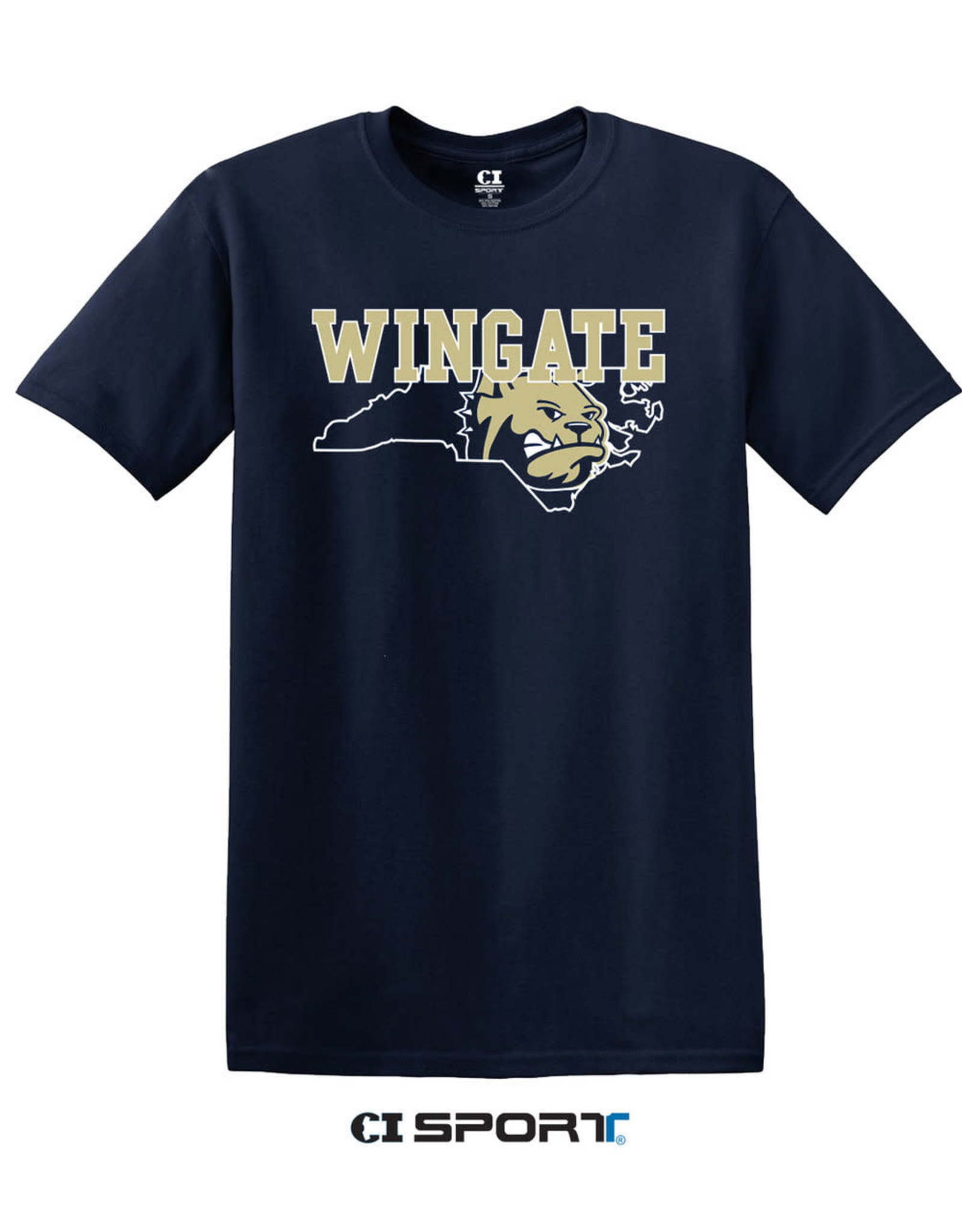 Gildan Navy Wingate Dog Head State SS Tee