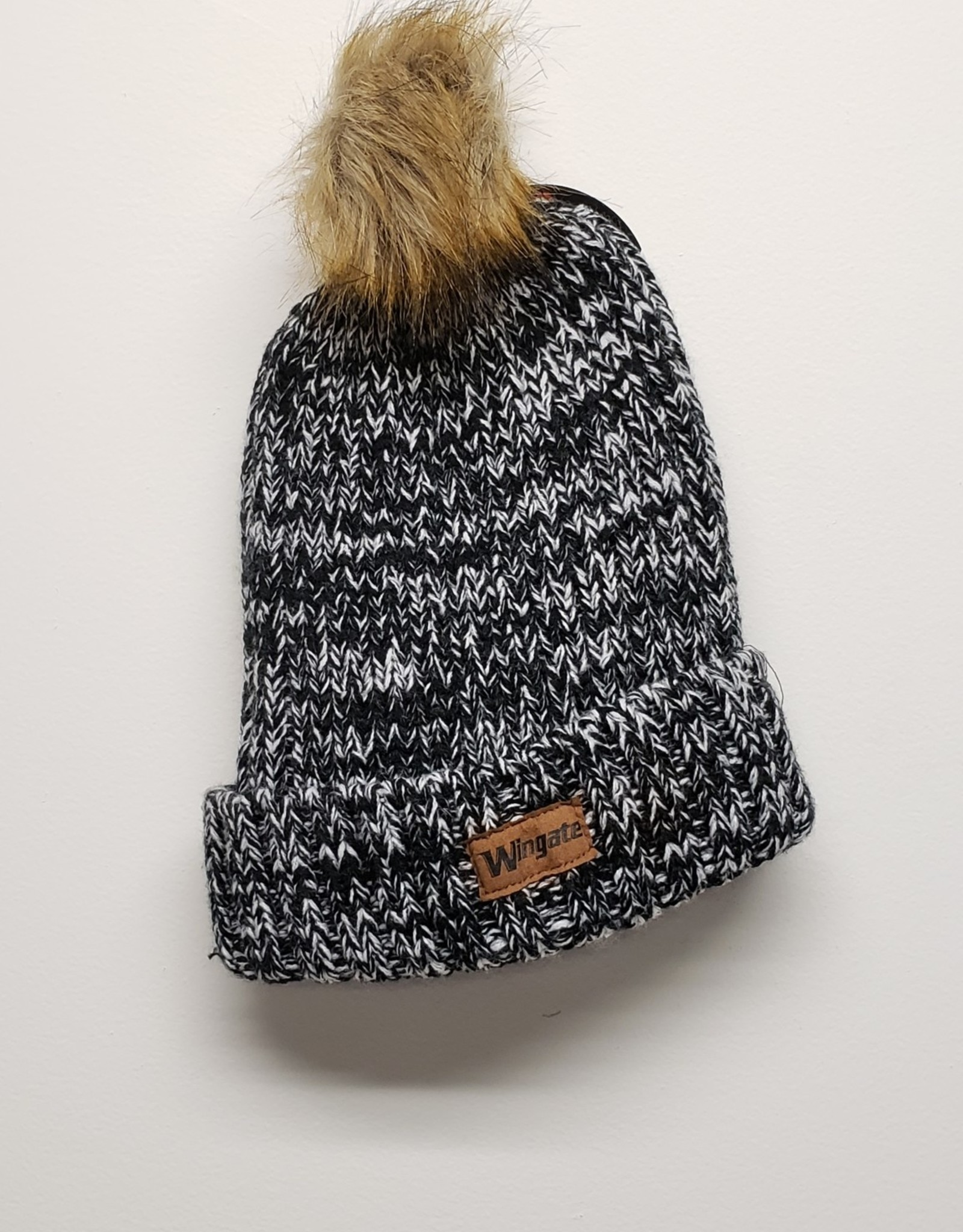 Gracie Knit Beanie Leather Wingate Patch