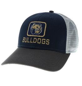 Grey Navy White Bulldog Head Patch Bulldogs Snap