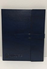 Navy Leather Padfolio Dog Head Wingate