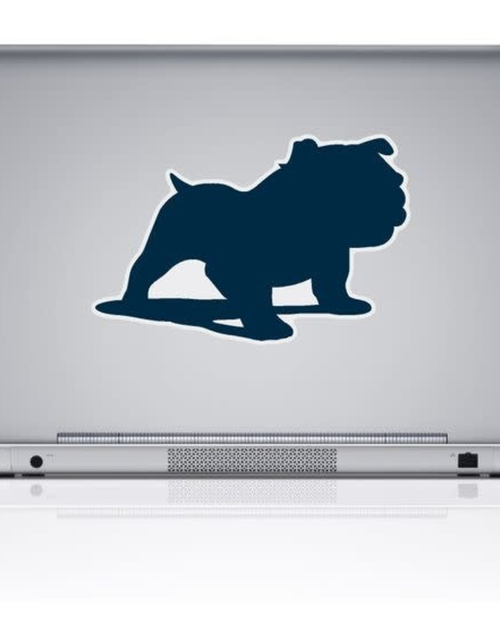 "CDI 7"" x 5"" Full Bulldog Solid Navy Removable Decal"