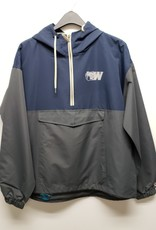 Navy and Charcoal Anorak 1/2 zip