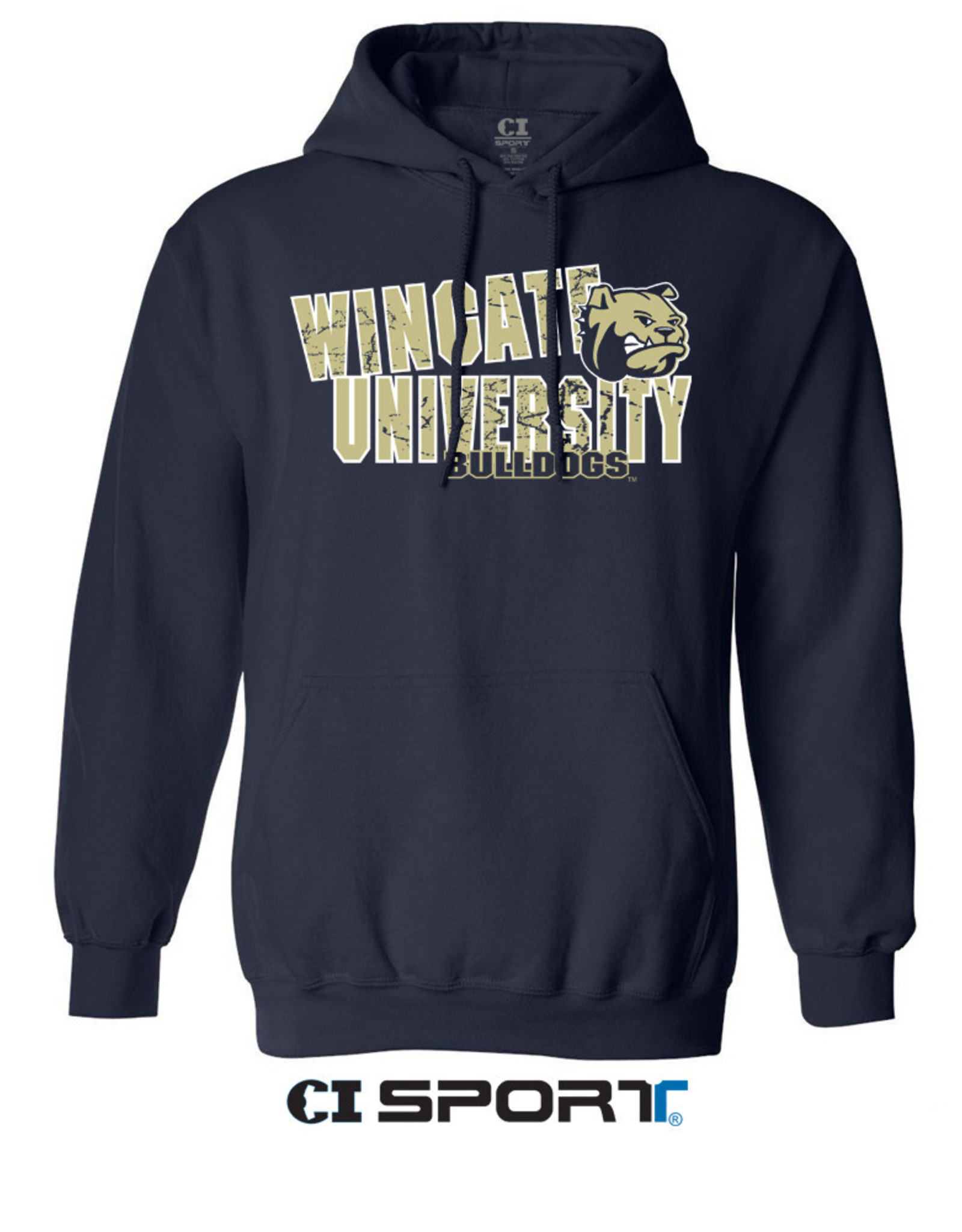Payette Navy  Wingate Dog Head Bulldogs University Hoodie