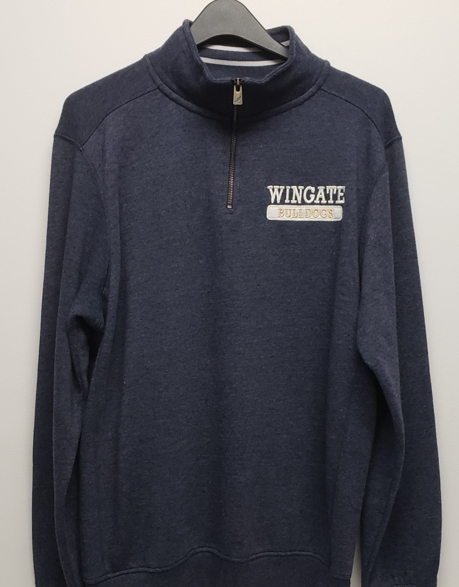 Navy Heather Triblend Collegiate 1/4 Zip