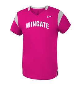 Nike Youth Pink Fan Vneck SS Tee