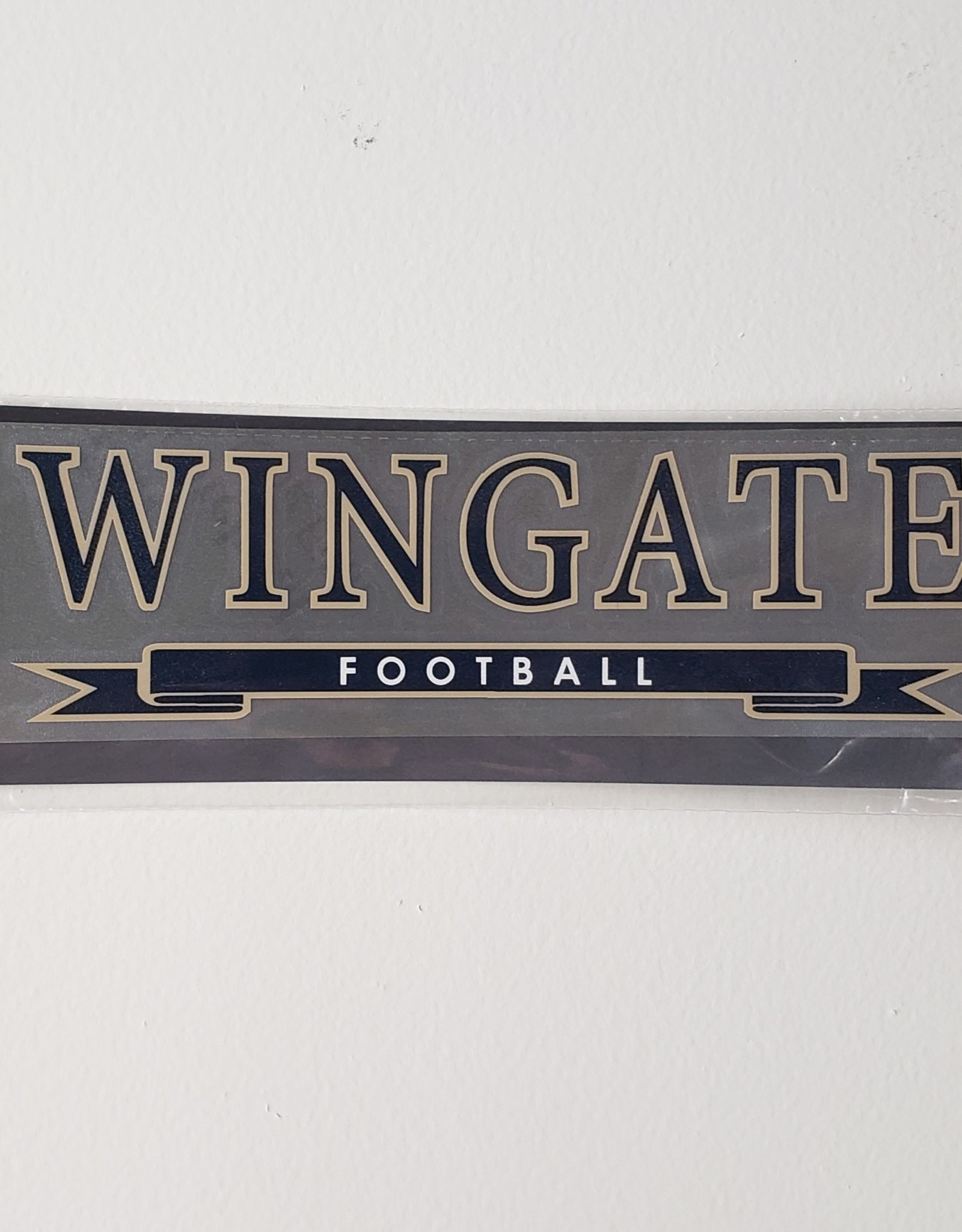 "Color Shock 7.5"" x 2.5"" Football Banner Decal"