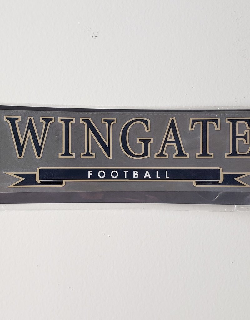 Color Shock Football Banner Decal