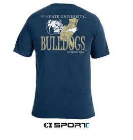 Comfort Colors Wingate U Bulldogs State Map Comfort Colors SS Tee