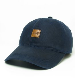 Legacy Navy Tiny Leather Patch Dog Head W Adjustable Hat